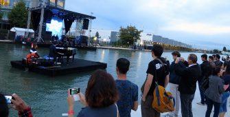 organisateur barge scène flottante mobile évènement nautique Pantin