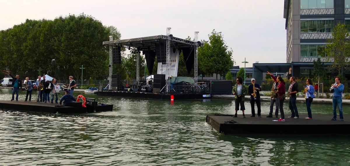 organisateur scène flottante mobile évènement nautique Pantin
