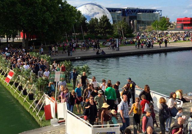 expert pont flottant fixe mobile ponton modulaire fluvial france Paris La Villette